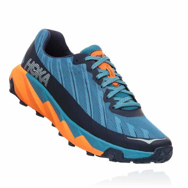 Hoka One One Torrent in Blau Schwarz Orange