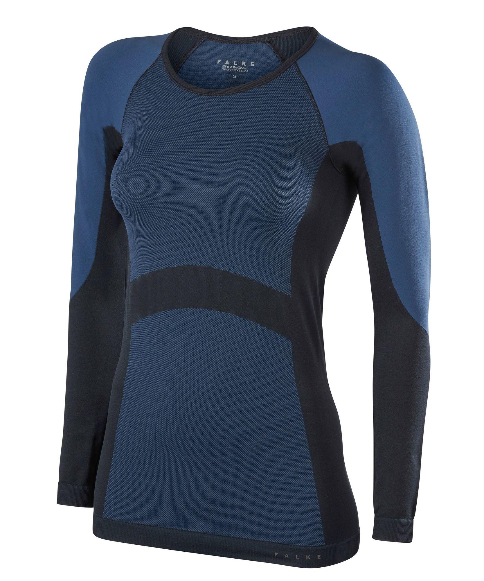 Falke Damen Simplicity Langarmshirt in Blau