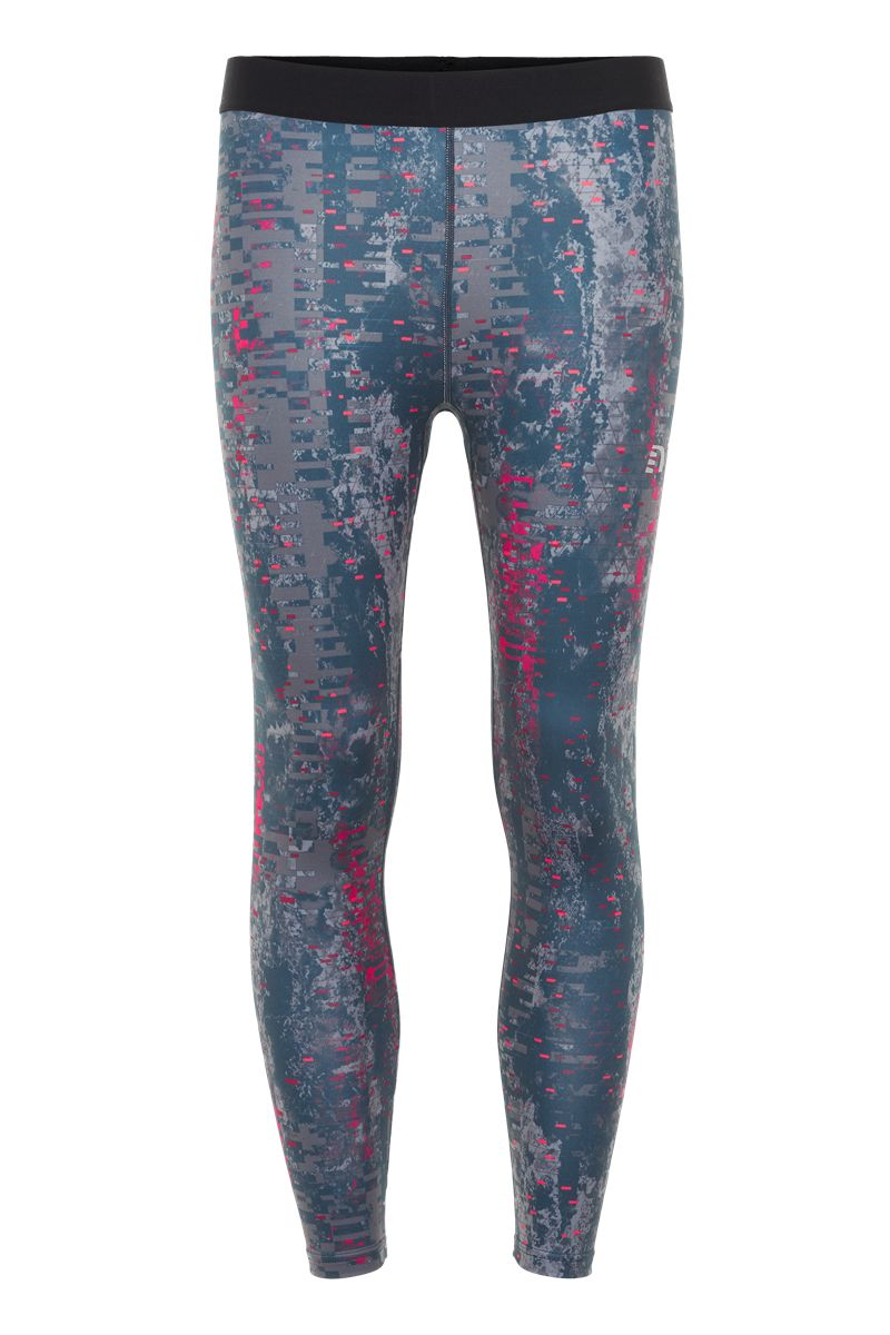 Newline Lady Black Printed 7/8 Tights in Grau Blau