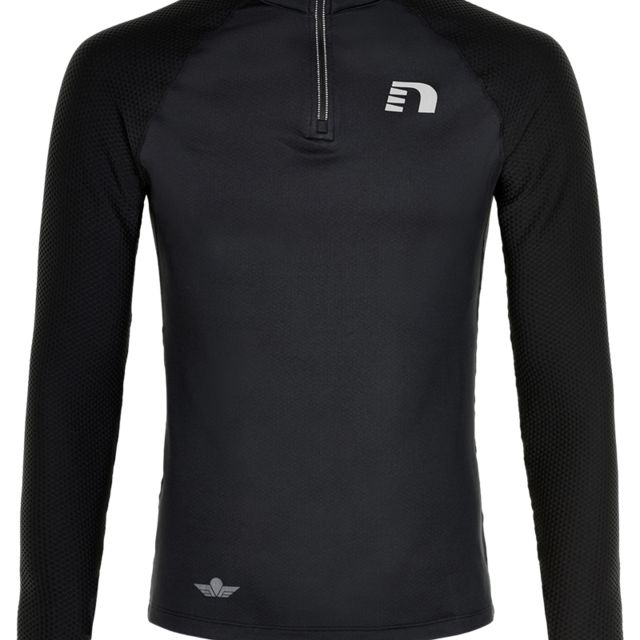 Newline Black Thermal Power Shirt in Schwarz