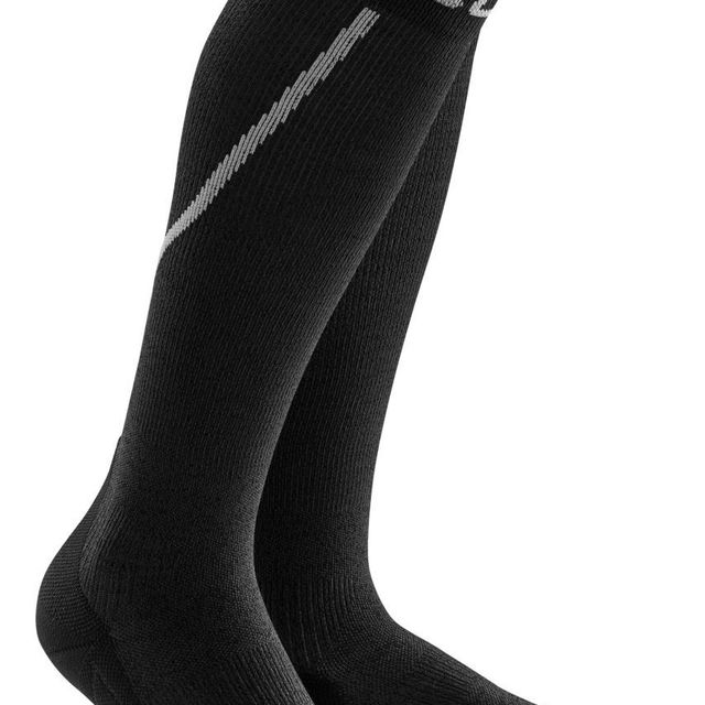 cep Winter Run Socks in Grau Schwarz