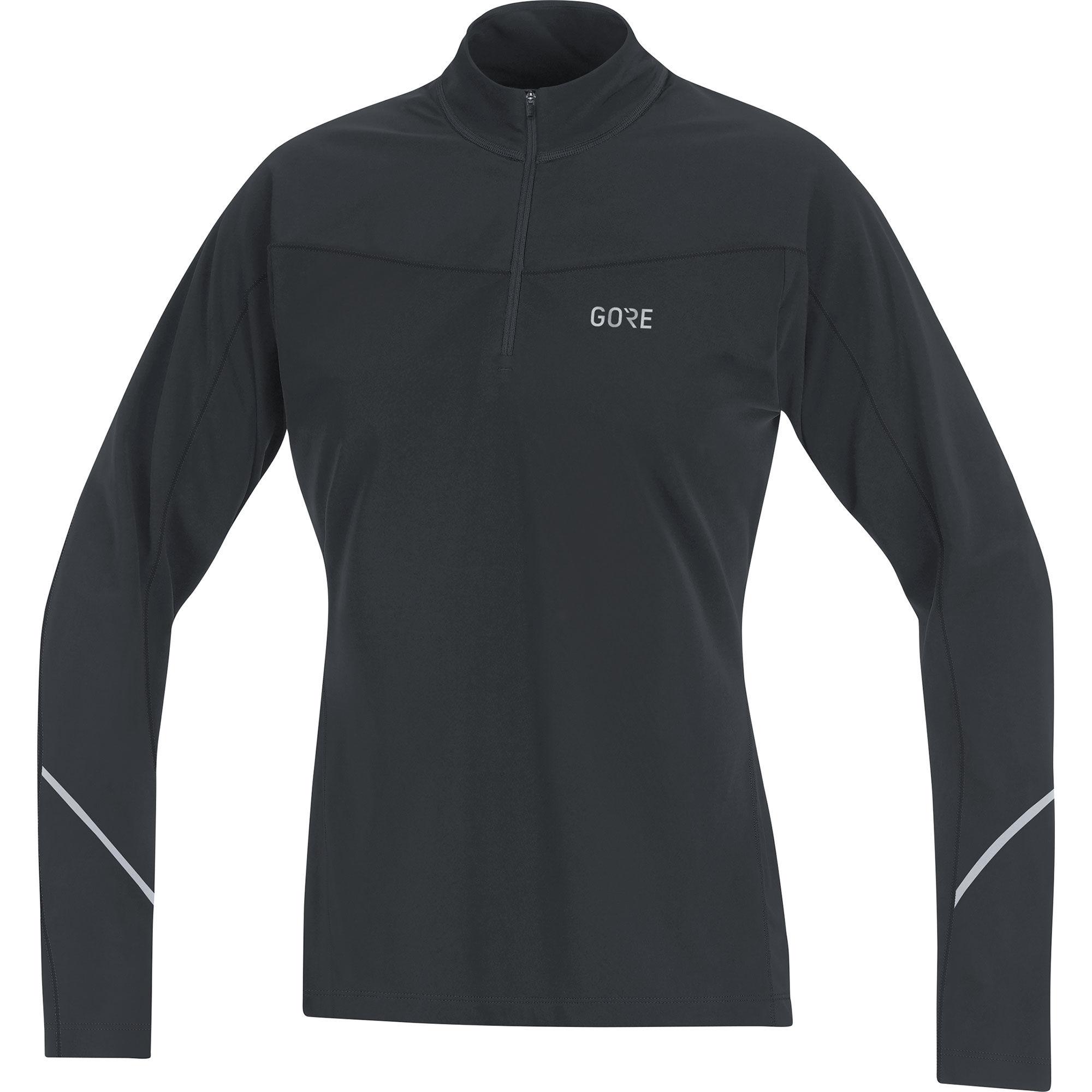 Gore R3 Lady Thermo Zip Shirt Langarm in Schwarz