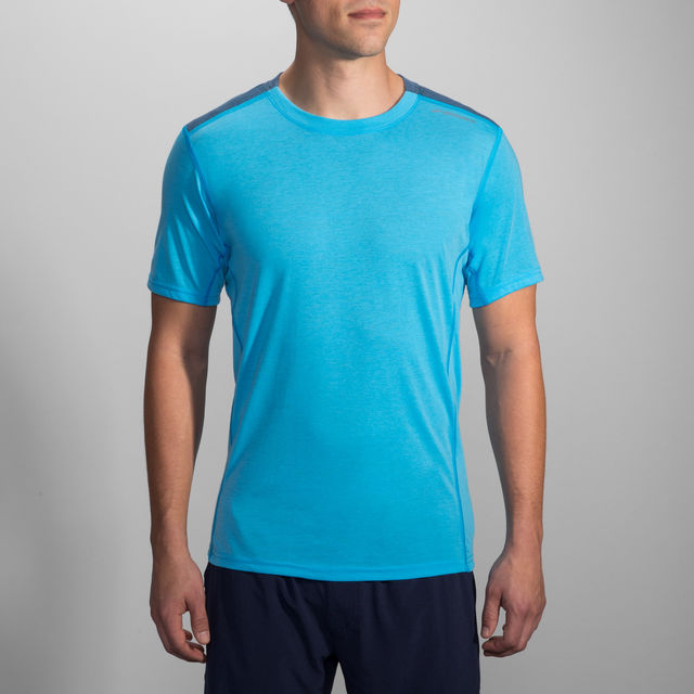 Brooks Distance Short Sleeve in Blau