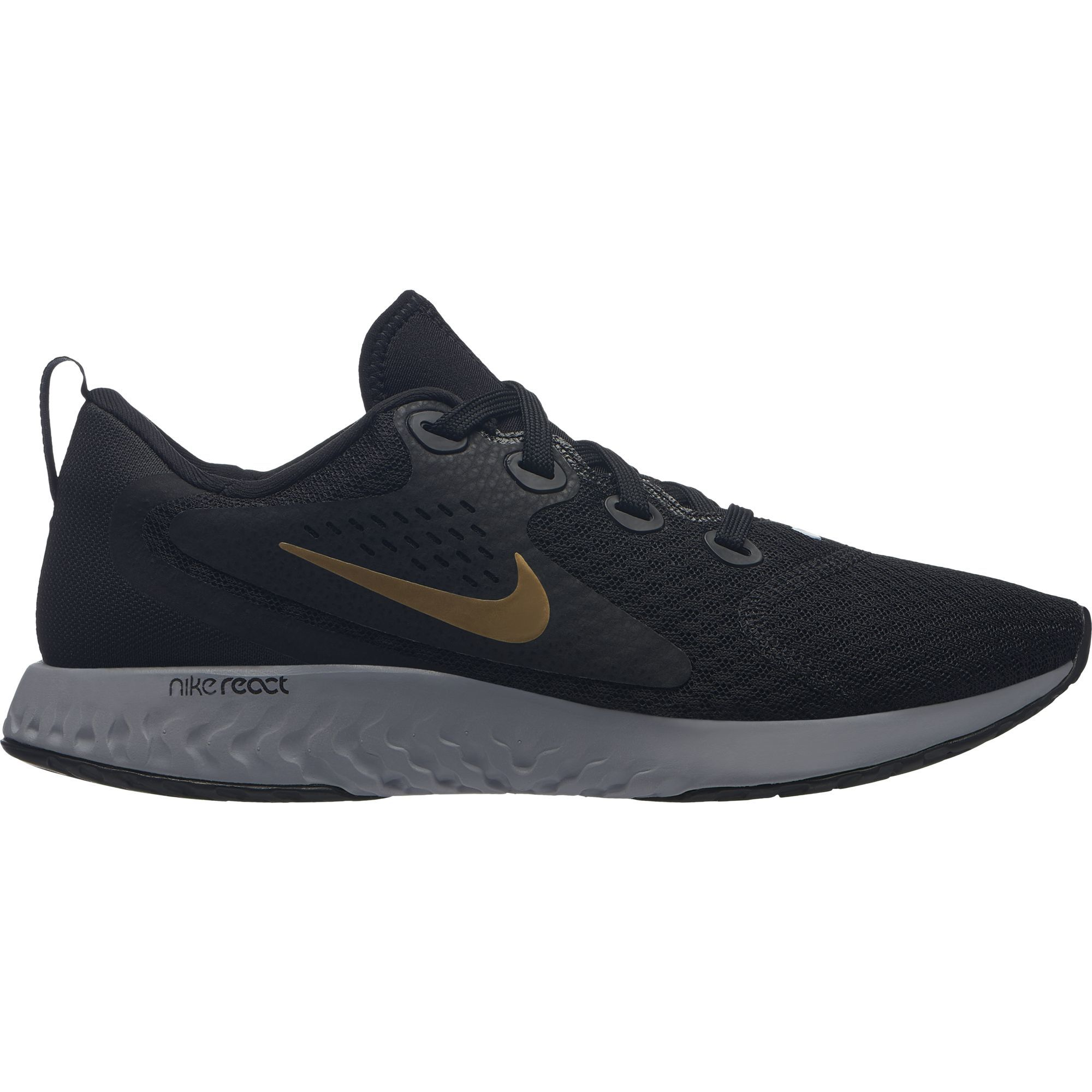 Nike Lady Legend React in Schwarz Gold Grau