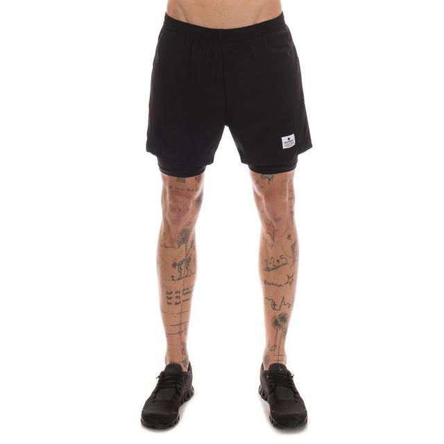 SAYSKY 2 in 1 Shorts in Schwarz