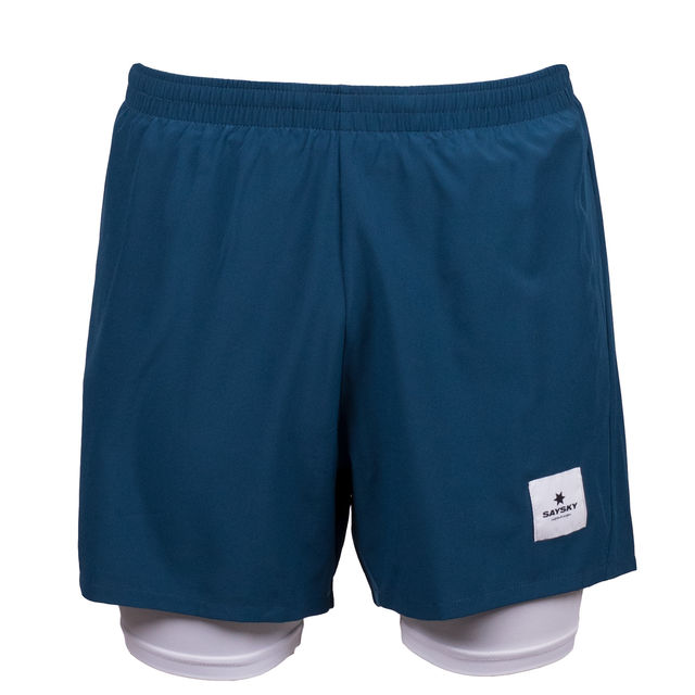 SAYSKY 2 in 1 Shorts in Blau Weiß