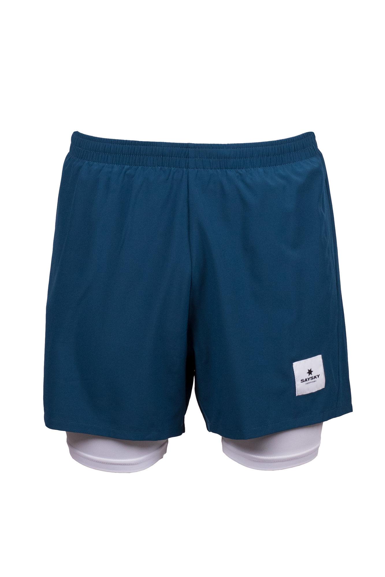 SAYSKY 2 in 1 Shorts in Blau Weiß