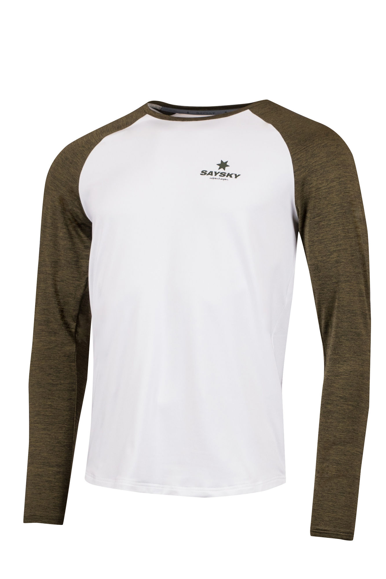 SAYSKY Corporate Langarmshirt in Weiß Grün
