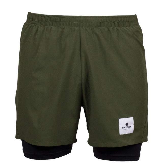 SAYSKY 2 in 1 Shorts in Grün