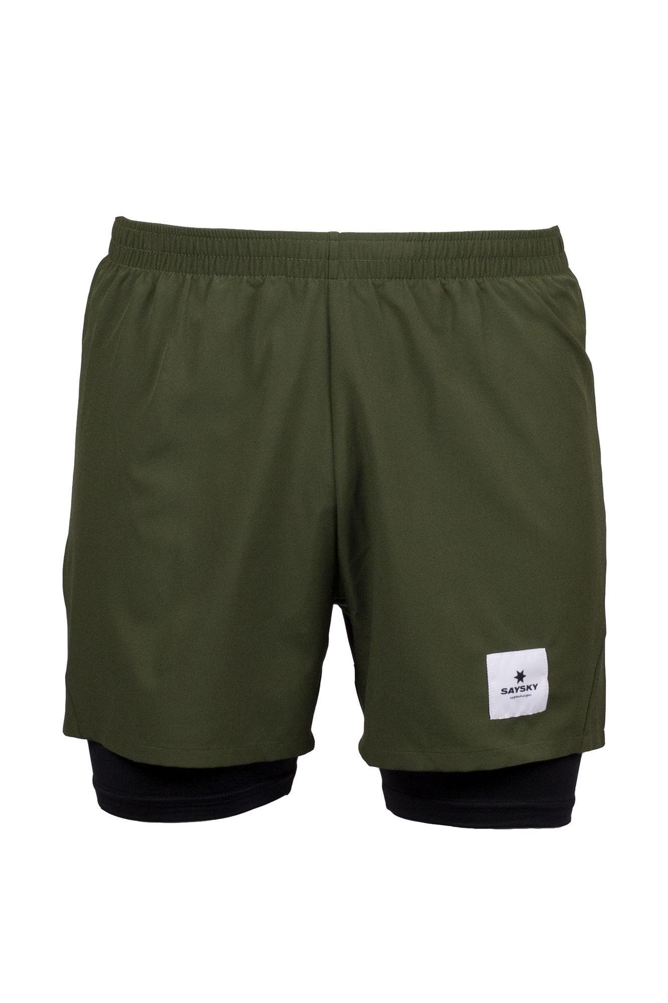 SAYSKY 2 in 1 Shorts in Grün