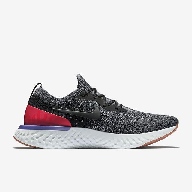 Nike Epic React Flyknit in Schwarz Rot Weiß