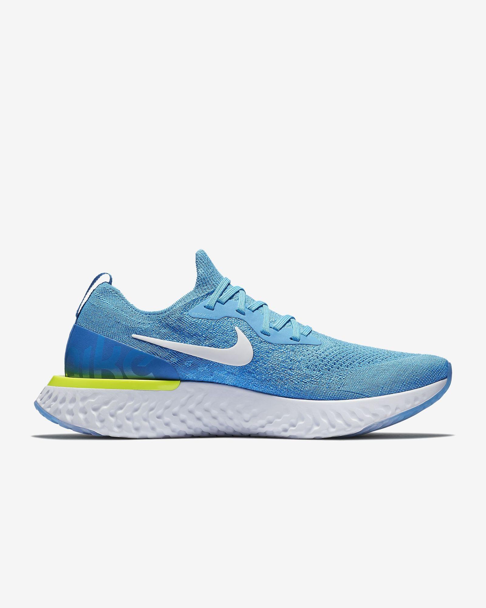 Nike Epic React Flyknit in Blau