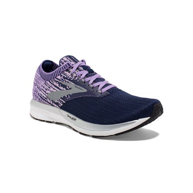 Brooks Lady Ricochet in Lila Schwarz