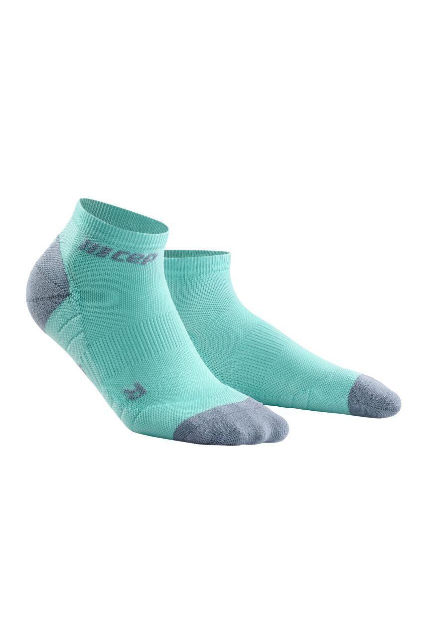 cep Women Compression Low Cut Socks 3.0 in Grün Grau