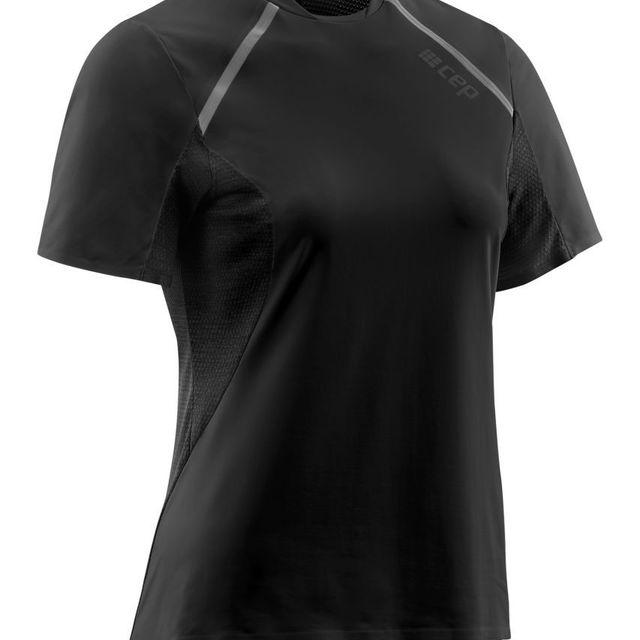 cep Women Run Shirt Short Sleeve in Schwarz