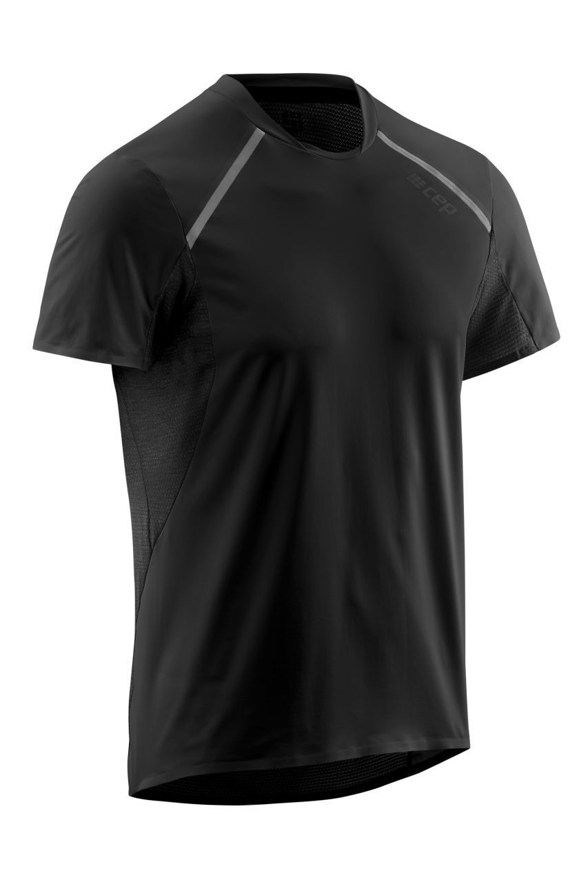 cep Run Shirt Short Sleeve in Schwarz