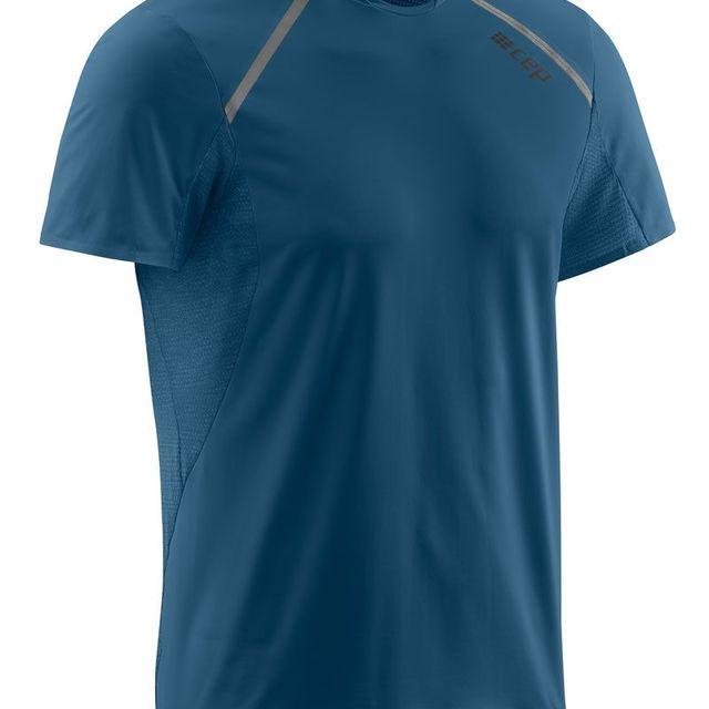 cep Run Shirt Short Sleeve in Blau