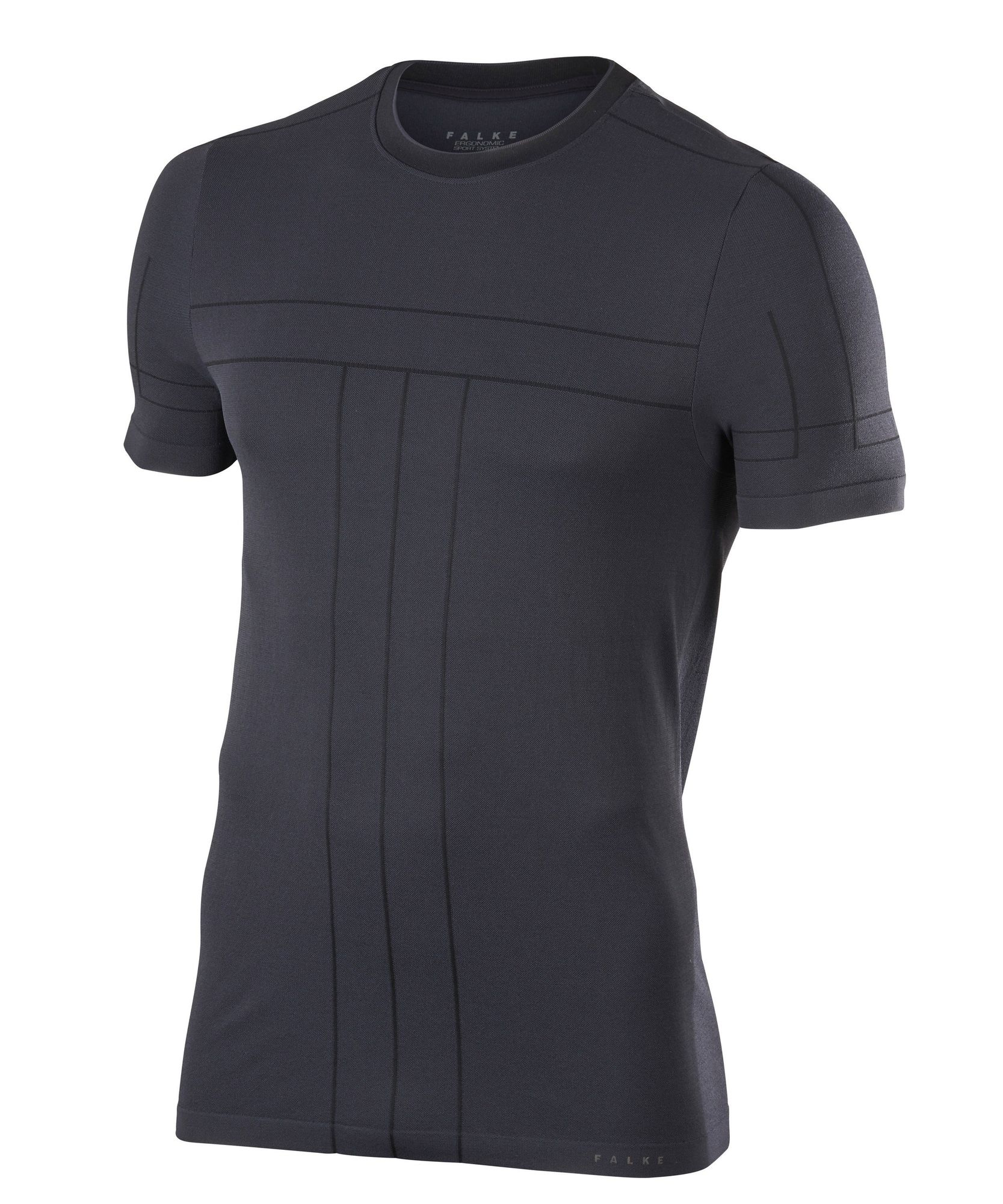 Falke Basic T-Shirt in Schwarz