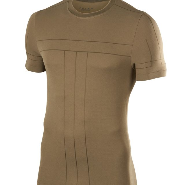 Falke Basic T-Shirt in Beige Khaki