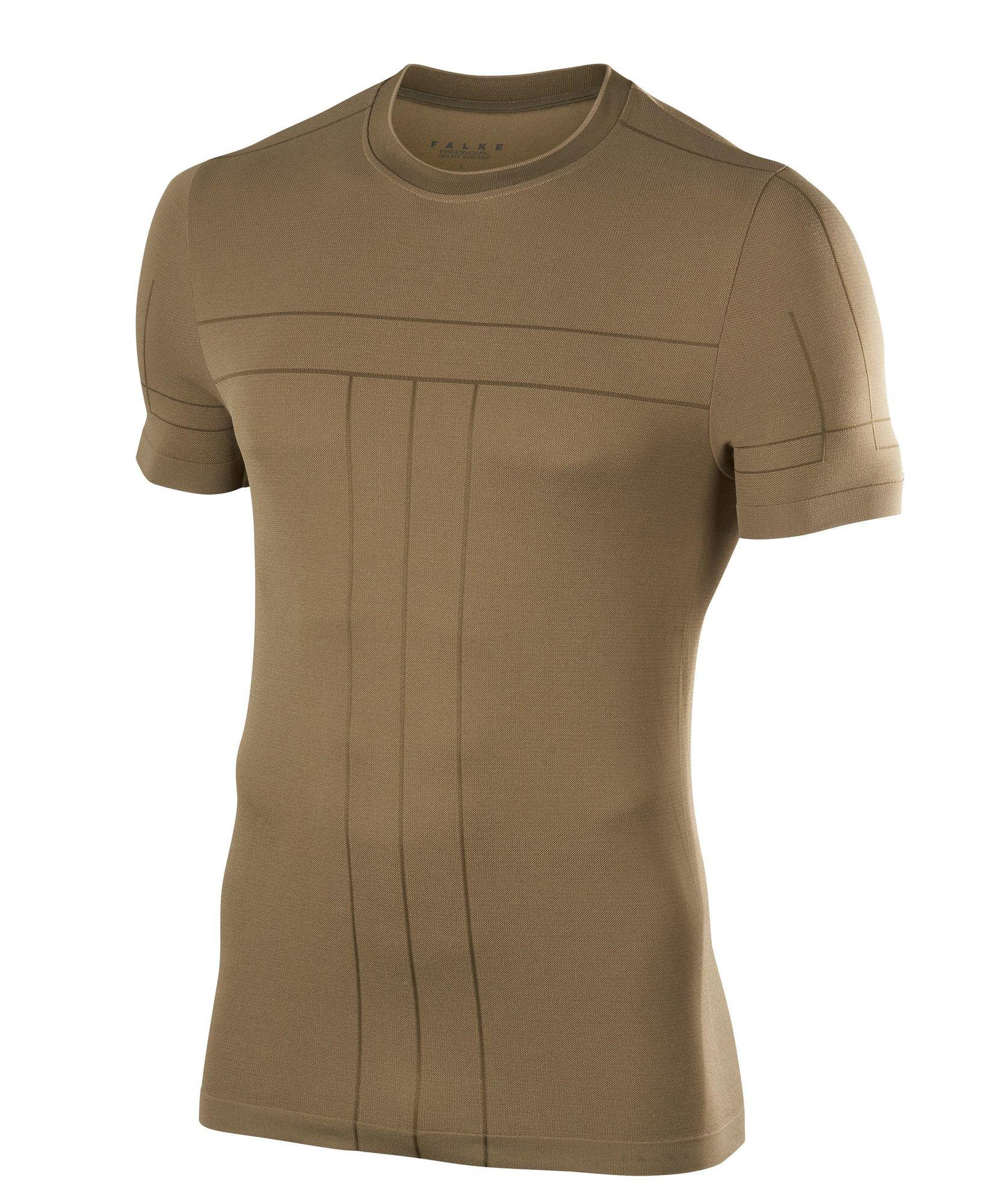 Falke Basic T-Shirt in Beige Khaki