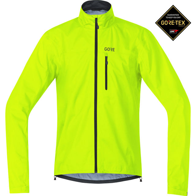 Gore C3 Gore-Tex Active Jacke in Neon Gelb