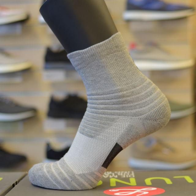 Lunge Socke Midcut Asphaltgrey in Asphaltgrau