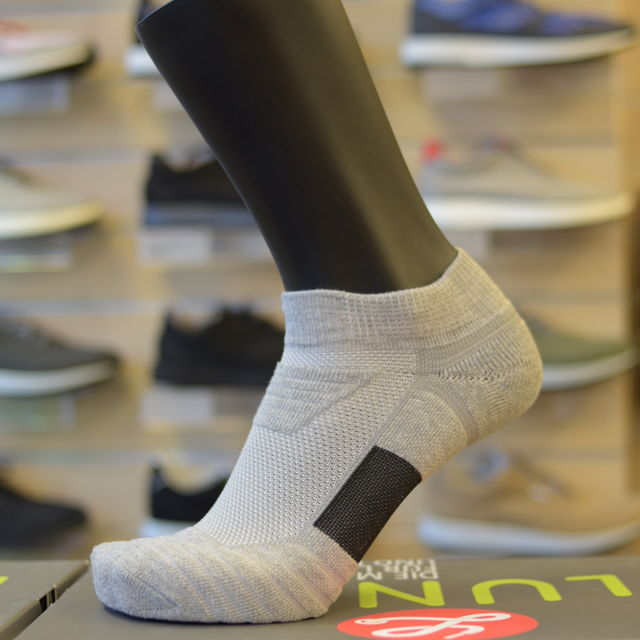 Lunge Socke Lowcut Asphaltgrey in Asphaltgrau