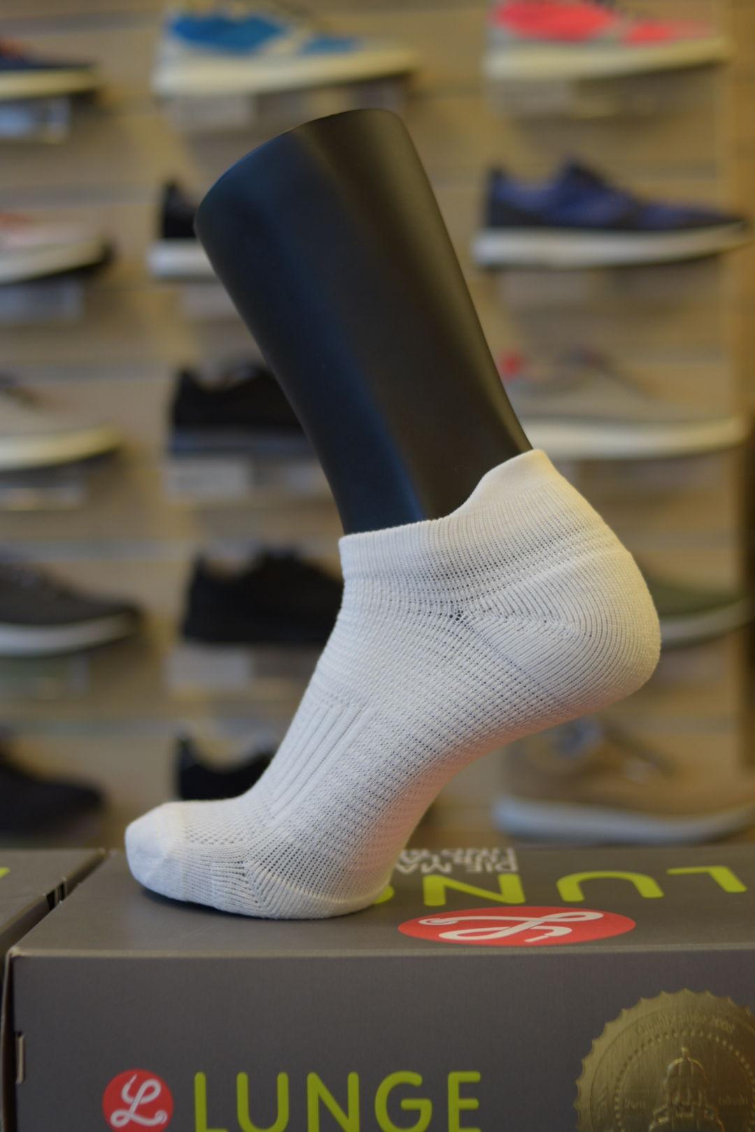 Lunge Socke Lowcut Snowwhite in Schneeweiß