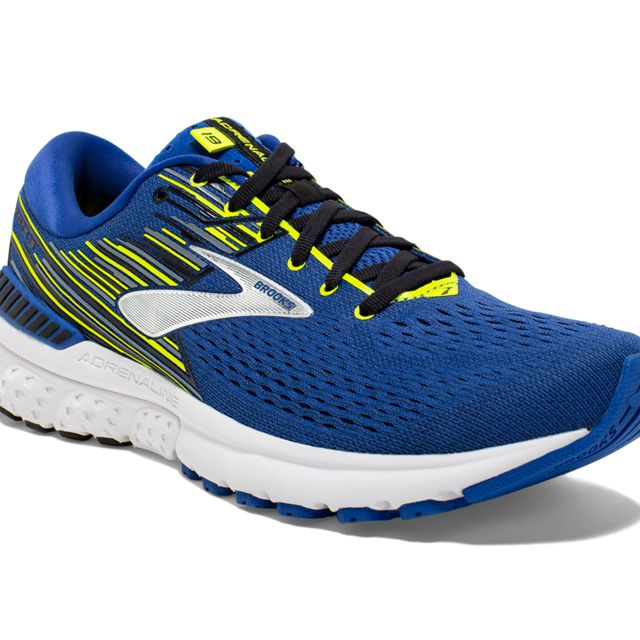 Brooks Adrenaline 19 D in Blau Gelb