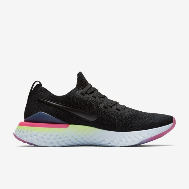 Nike Lady Epic React Flyknit 2 in Schwarz Rosa