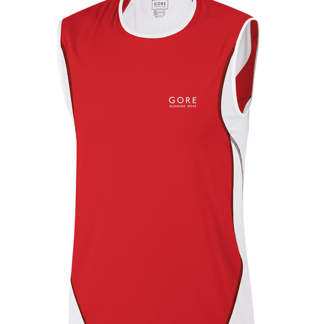 Gore AIR TANK Top in Red/White