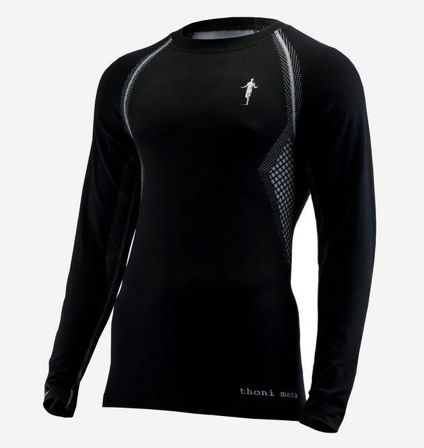 Thonimara Herren Longshirt schwarz in Schwarz