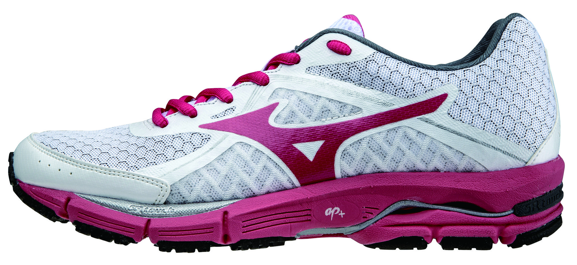Mizuno Lady Wave Ultima 6 in Weiß, Rot