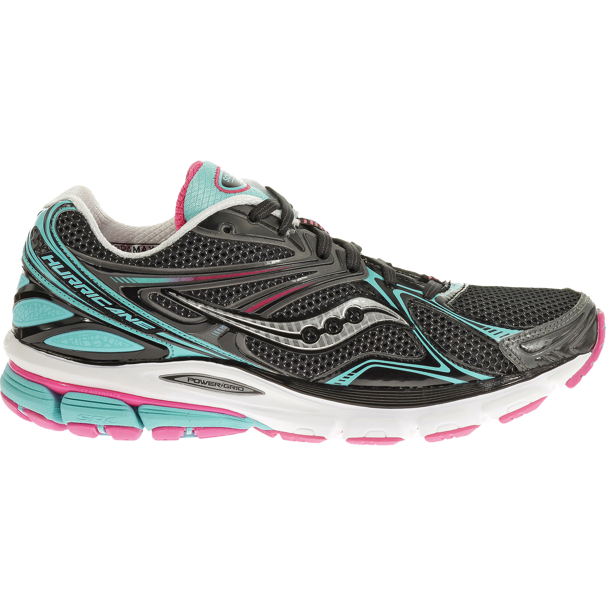 Saucony Lady Hurricane 16 in Black Blue Pink