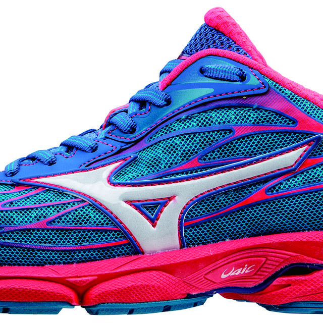Mizuno Lady Wave Catalyst in Blau Rot