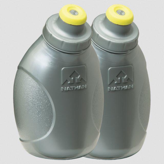 Nathan 2x 300ml Push Pull Ersatzflaschen (Silber Gelb)