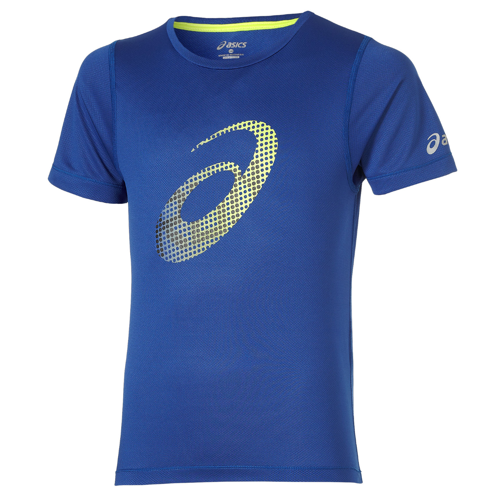 Asics Boys SS Top in Blau