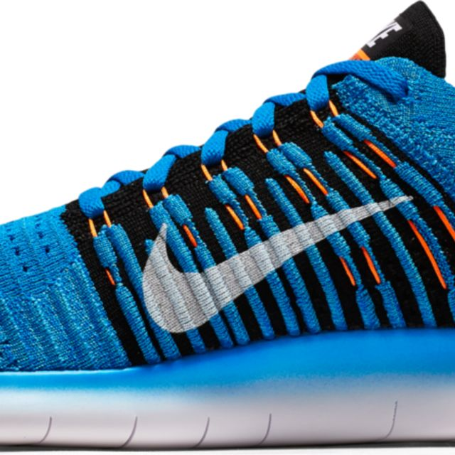 Nike Free Run Flyknit in Blau