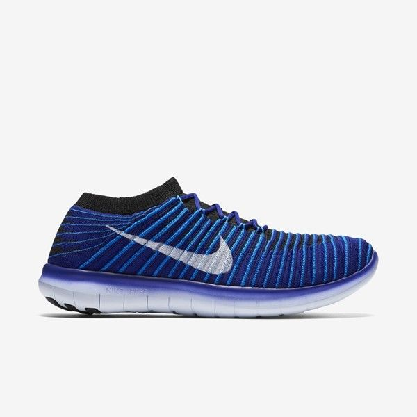 Nike Lady Free Run Motion Flyknit in Blau