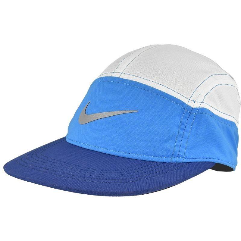 Nike Women Run Zip AW84 Cap in Weiß Blau
