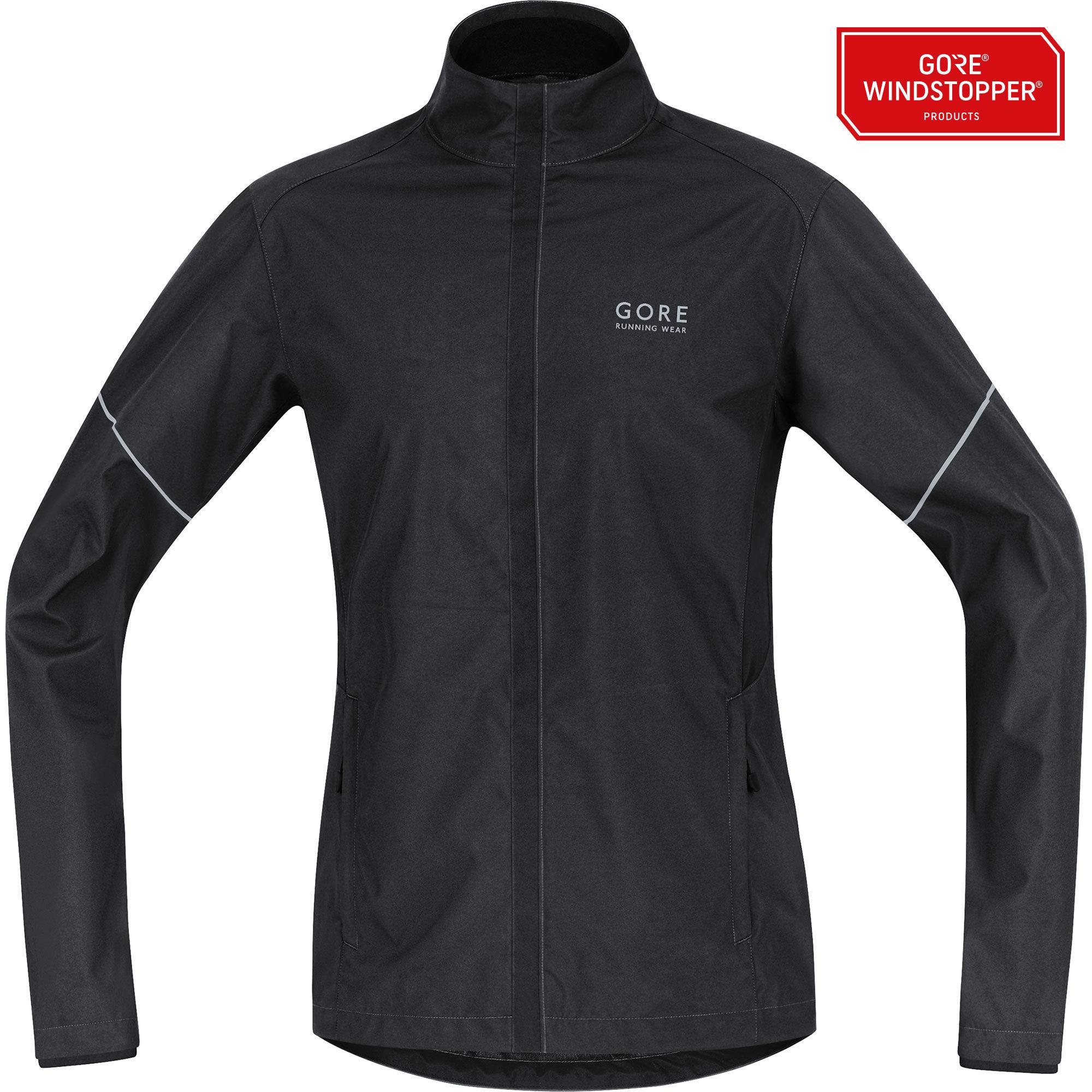 Gore Essential Partial Jacket in Schwarz