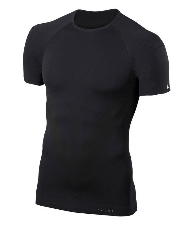 Falke Kurzarmshirt Tight Fit (Schwarz)