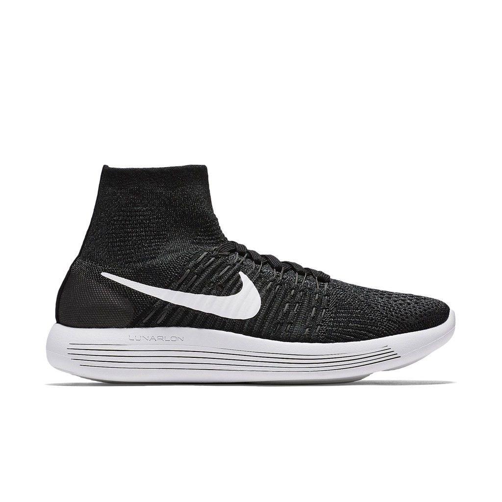 Nike Lady LunarEpic Flyknit in Schwarz Weiß