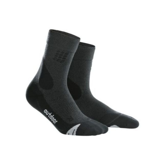 cep Outdoor Merino Mid Cut Socks Men (Schwarz Grau)