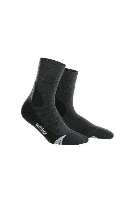 cep Outdoor Merino Mid Cut Socks Men in Schwarz Grau