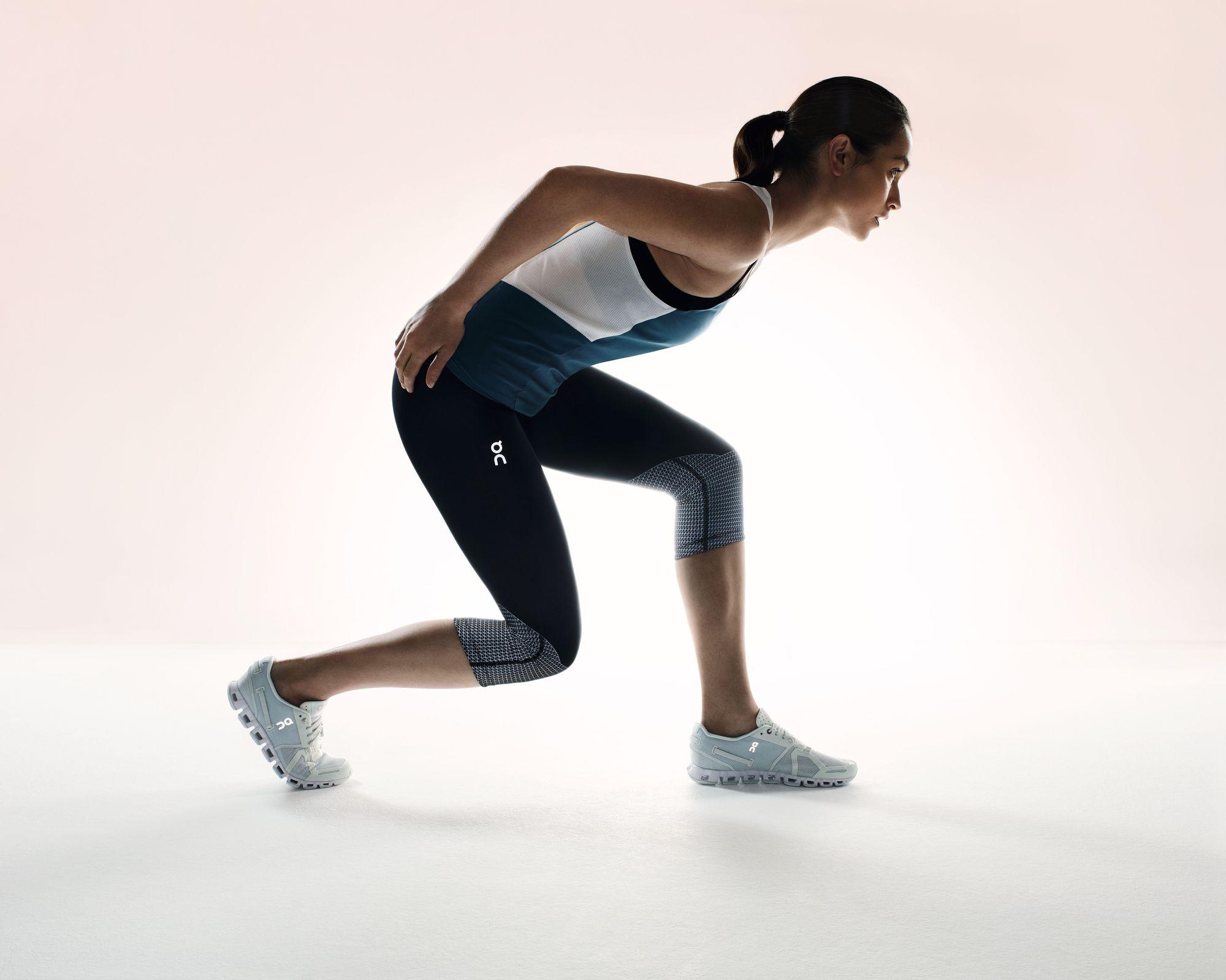 On Lady Running Tights in Schwarz