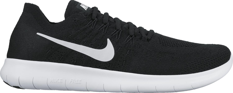 Nike Free RN 2 Flyknit in Schwarz Weiß