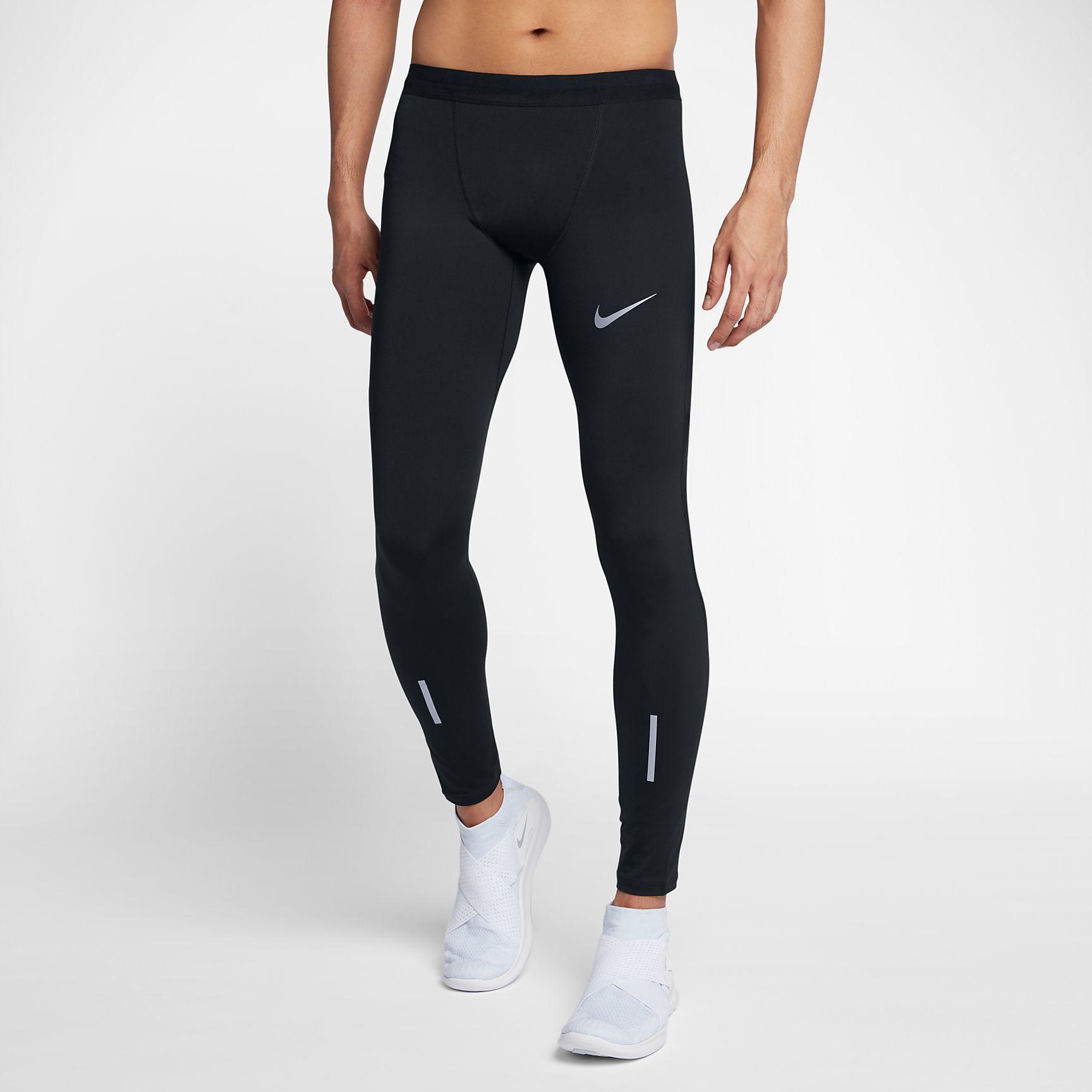 Nike Tech Tights lang in Schwarz
