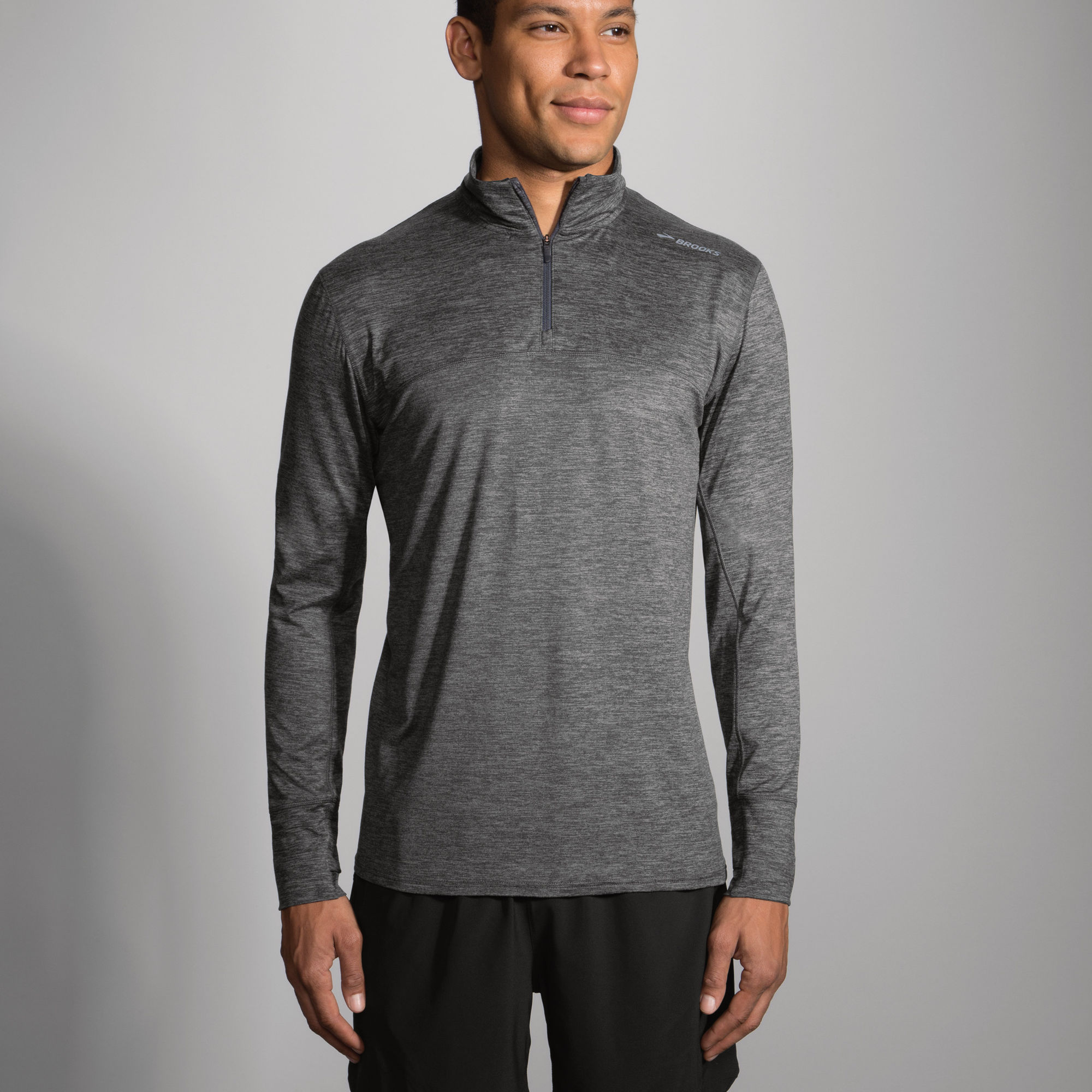 Brooks Dash 1/2 Zip in Grau
