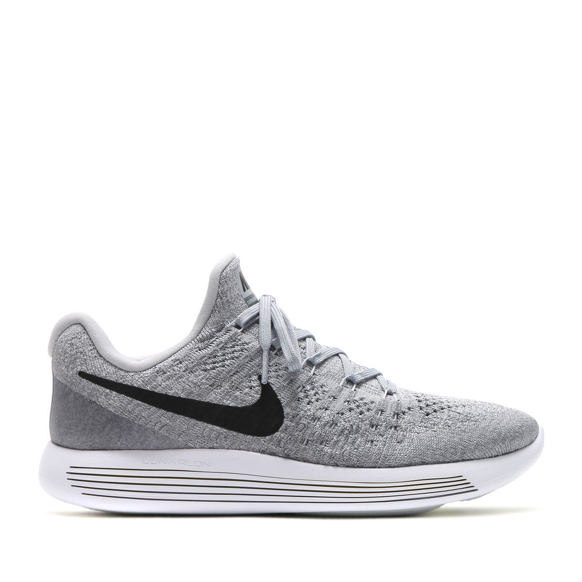 Nike LunarEpic low Flyknit 2 in Grau